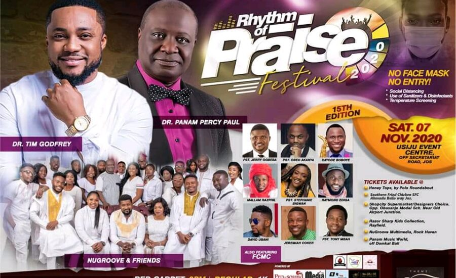 Events: Nugroove And Friends Set To Host 15th Edition, Rhythm of Praise Festival