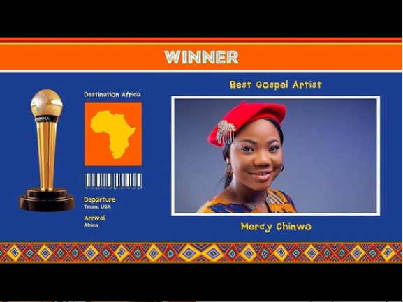 News: Mercy Chinwo Wins AFRIMMA Award